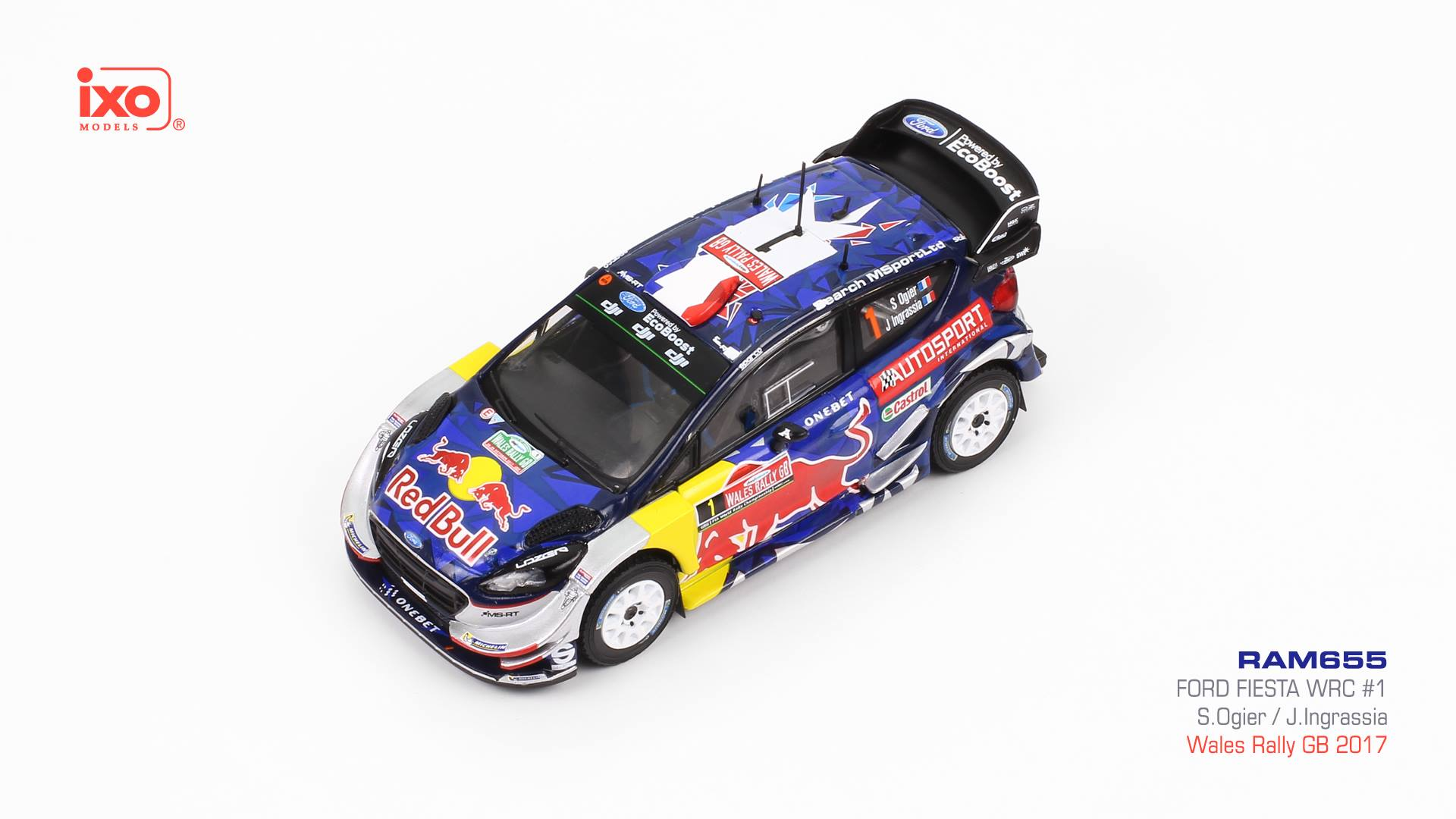 Ford Fiesta WRC, No.1 1:43 IXO
