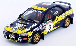 Subaru Impreza, No.8, Bourne / Vincent, rallye New Zealand 1997 1:43 Trofeu